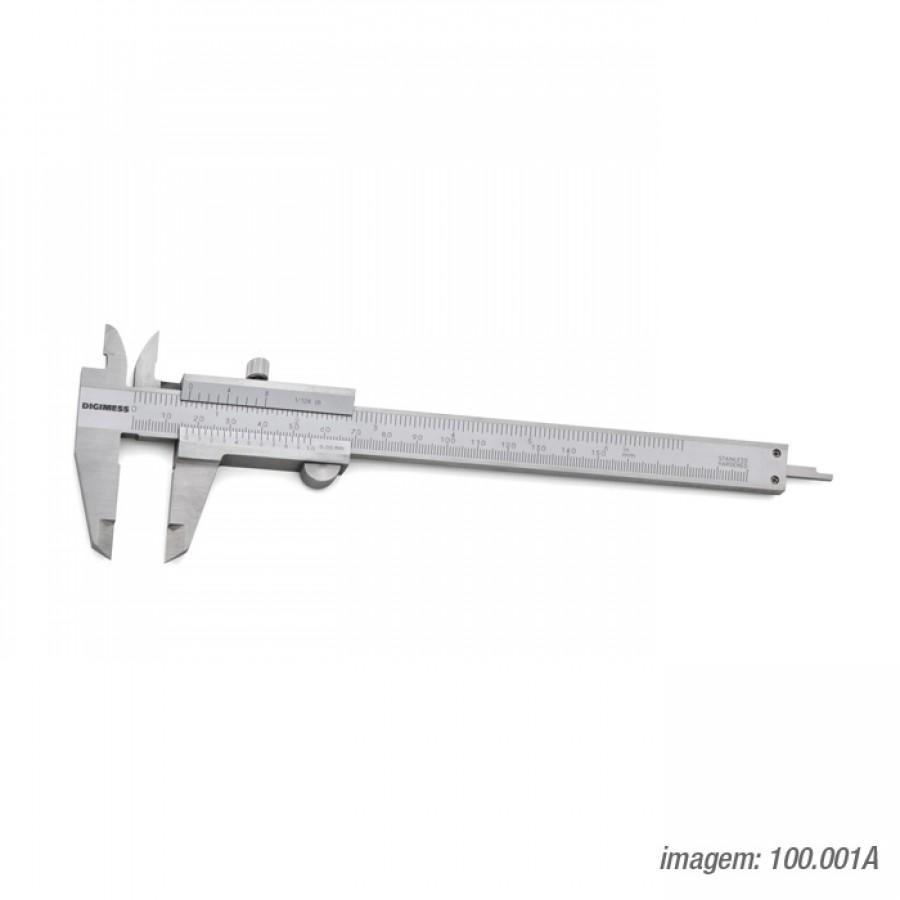 Paquímetro universal Digimess 150mm res. 0,05mm cód. 100.001A c/ certificado RBC