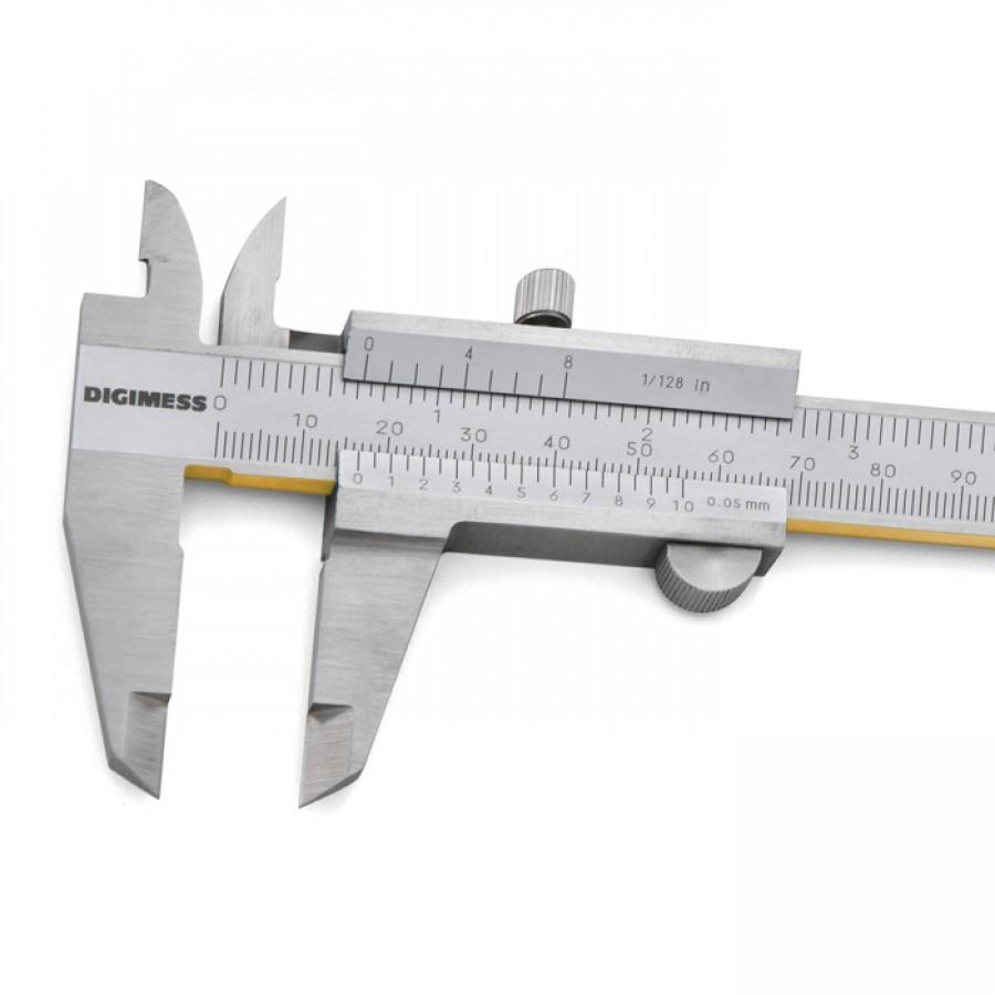 Paquímetro universal Digimess 150mm res. 0,05mm cód 100.001A-TIN liga de Titânio c/ certificado R