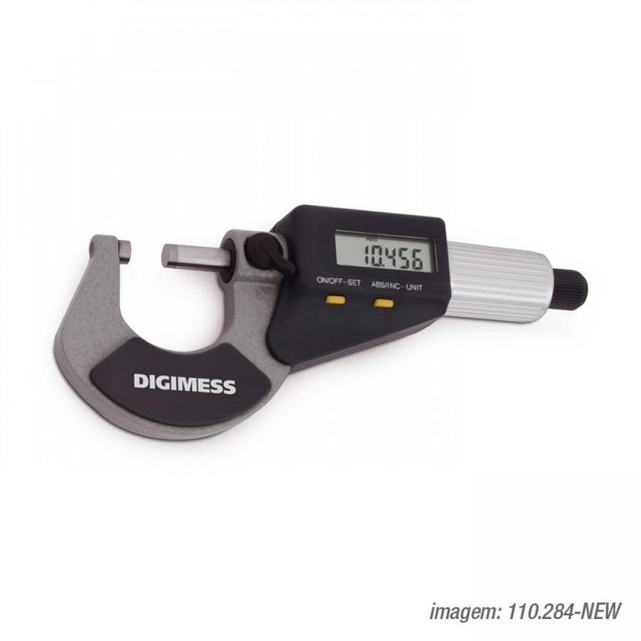 Micrômetro Digital Digimess 0-25 res. 0,001mm cód. 110.284 C/ Certificado de Calibração RBC