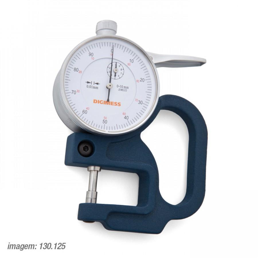 Medidor de espessura Digimess 0-10mm arco de 6mm res.0,01mm cód. 130.125 c/ Certificado RBC