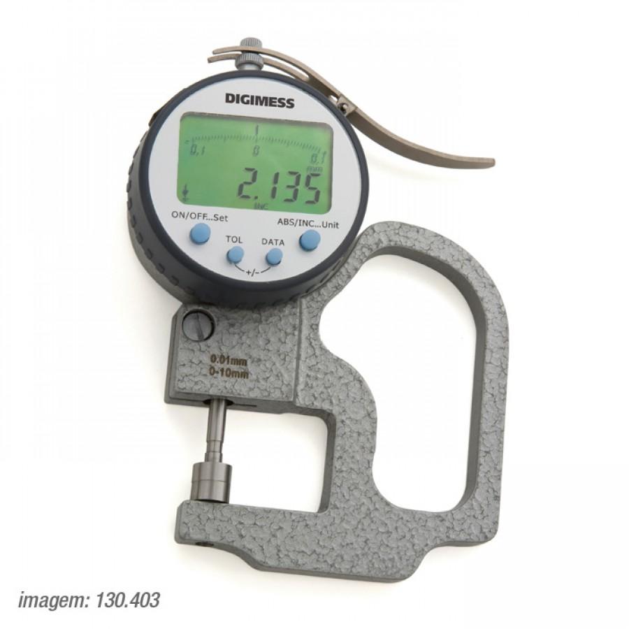 Medidor de espessura arco  Digimess 0-10mm arco de 30mm res.0,005mm cód. 130.403 c/ Certificado RBC