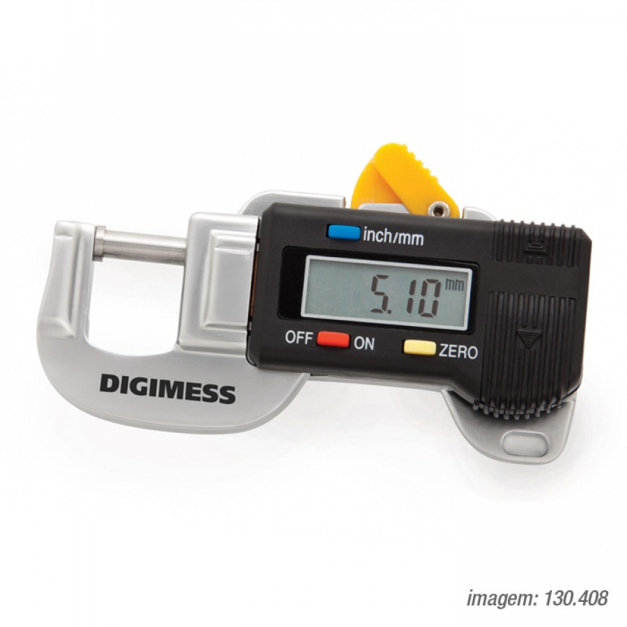 Medidor de espessura Digimess 0-12mm res.0,01mm cód. 130.407 c/ Certificado RBC
