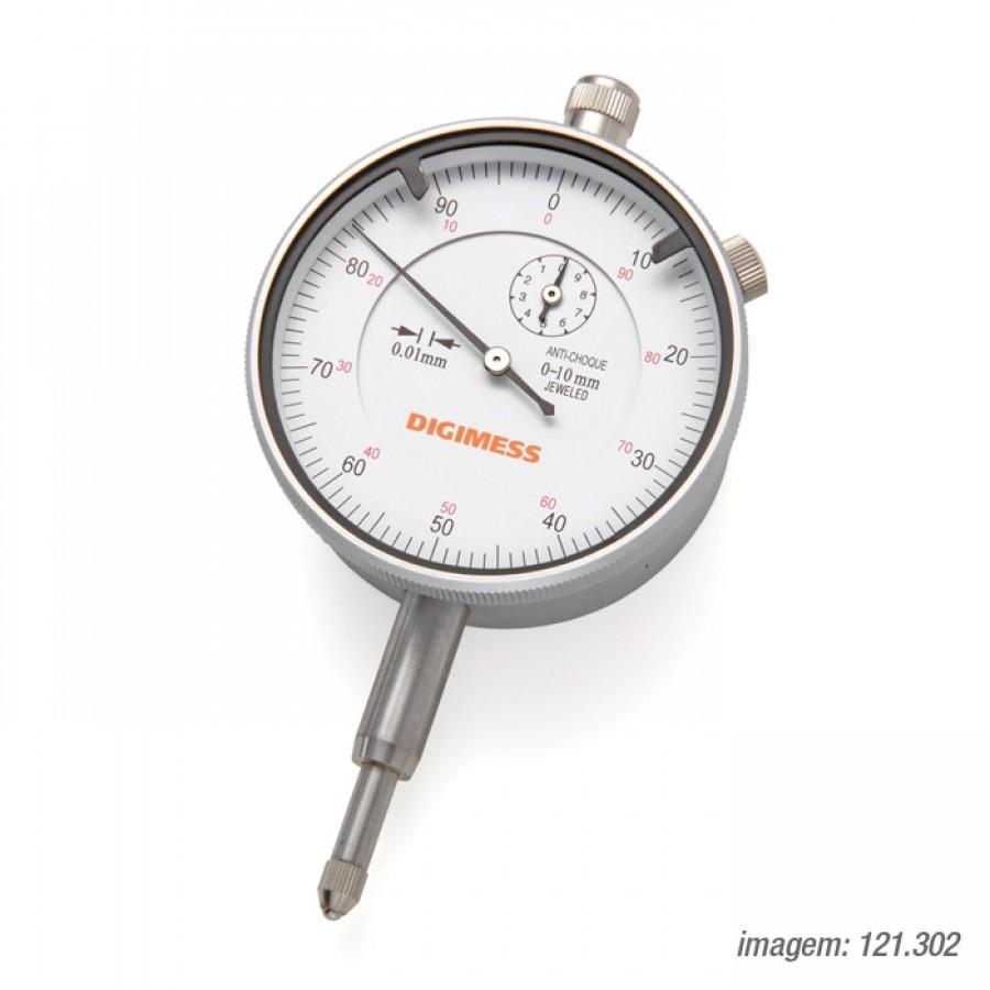 Relógio Comparador Digimess 0-10mm res. 0,01mm cód. 121.302 c/ Certificado RBC