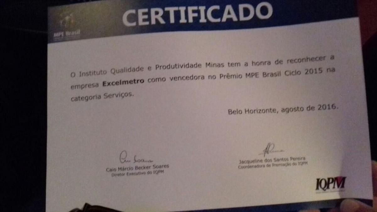 Homenagem no Prêmio Mineiro de Qualidade 2016